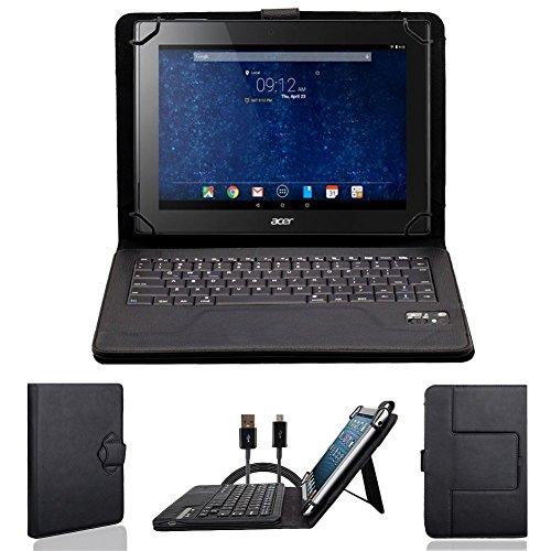 NAUC Bluetooth Tastatur Tasche Acer Iconia Tab 10 A3-A40 Tablet Hülle Schutzhülle Bag