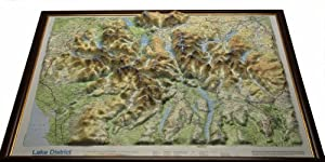 Lake District Raised Relief Map: Light Wood Frame (Raised Relief Maps Series)