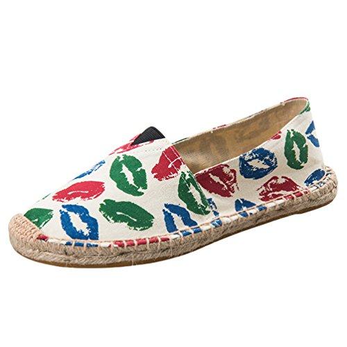 Dooxi Hommes Femmes Amoureux Décontractée Plat Loafers Chaussures Mode Confort Espadrilles 39(24.5cm)