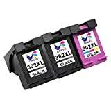 ONLYU 3-Pack Compatibile HP 302XL 302 XL Cartuccia inchiostro per HP Envy 4520 4521 4522 4523 4524 4525 4527 4528 OfficeJet 3830 3831 3832 3833 3834 3835 4650 4651 4652 4654 4655 4657 4658 DeskJet 1110 1115 2130 2132 2133 2134 2135 3630 3632 3633 3634 3636 3637 3638(2nero 1colore)