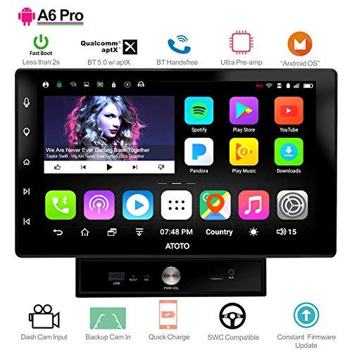 ATOTO [NEU] 10in Doppel-Din-Android-Autoradio-Stereoanlage - A6 Pro A6Y1021PR - 2X Bluetooth, mit aptX - Schnellladung, IPS-Display - Auto Multimedia Radio, WLAN, Lesen Sie 256G SD -