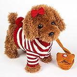 ADLIN Animaux en peluche chien électronique, Belle Barking Dog en peluche Stuff Pet Puppy Toy Enfants électronique Chiens Sound Control, alimenté par batterie, chanter et danser, la reconnaissance voc...
