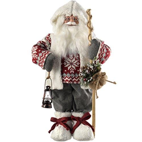 WeRChristmas–Figura Decorativa de pie de Papá Noel con decoración de Navidad, Disfraz,...
