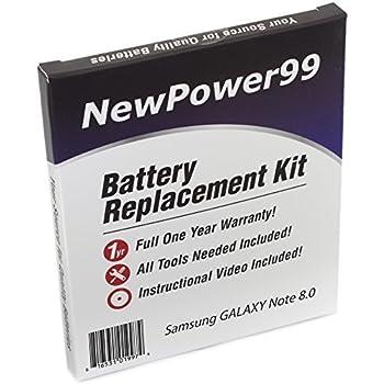 Kit de Remplacement de Batterie pour Samsung GALAXY Note 8.0 Série (GALAXY Note 8.0 GT-N5100, GALAXY Note 8.0 GT-N5110, GALAXY Note 8.0 GT-N5120) Tablet avec Vidéo d'Installation, Outils, et Batterie longue durée.