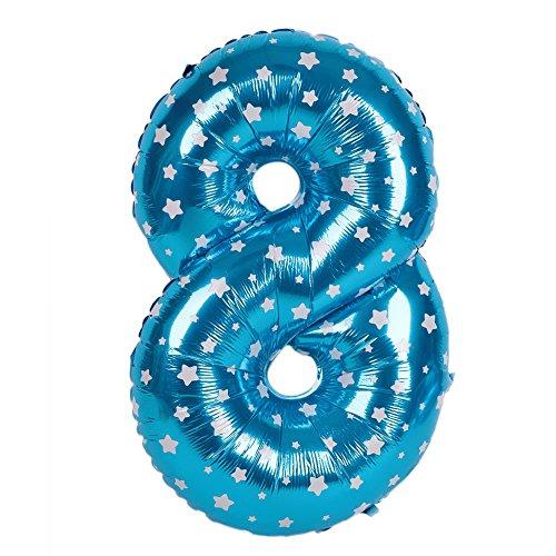 Kicode BigFamily Blau 40 Zoll Nummer Ballon Aluminiumfolie Festlicher Karneval Hochzeit Braut