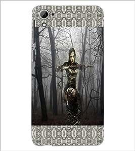 PrintDhaba Fantasy Girl D-6016 Back Case Cover for HTC DESIRE 826 (Multi-Coloured)