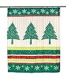 Carnation Home Fashions Tannenbaum Stoff Vorhang für die Dusche