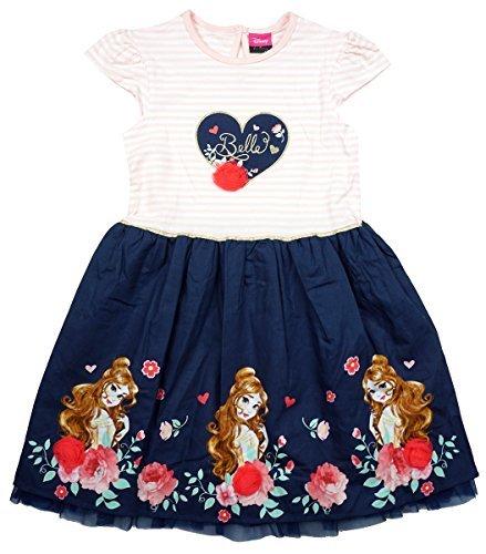 (Mädchen Disney Die Schöne und das Biest Belle Blumenmuster 3D Rose Sommerkleid Größen von 1 bis 8 Jahre - Mehrfarbig, 2-3 Years)