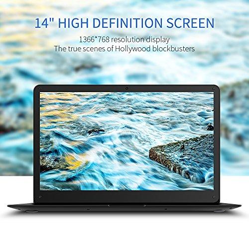 YUNTAB Z140C laptop Windows 10 Ultra slim Tablet 14 Zoll Intel Z8350 Quad-core 1.92 GHz 2 GB RAM 32 GB - 1366*768 Kamera 2 Mps Bluetooth 4.0 HDMI Mit Tastatur Holster einer Schwarz - 5