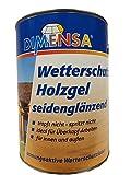 Dimensa Wetterschutz Holzgel InnenAussen Seidenglanzend Farbwahl 25 Liter FarbePalisander