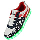Stern Muster 7 Farbe LED Farbwechsel Unisex Sneaker Schuhe für Party...