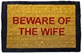 Happily Unmarried Beware of The Wife Coir Doormat - Red best price on Amazon @ Rs. 550