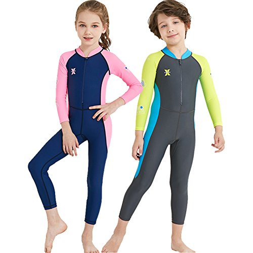 YIFEIKU Co.,Ltd.... Kids One Piece Swimsuit Long Sleeves Long Trousers Full Sun Protection Fast Drying UPF 50+ Body Protection - Surfing Diving Sailing - Boys Girls