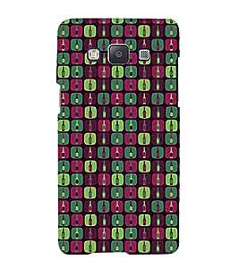 PrintVisa Designer Back Case Cover for Samsung Galaxy A3 (2015) :: Samsung Galaxy A3 Duos (2015) :: Samsung Galaxy A3 A300F A300Fu A300F/Ds A300G/Ds A300H/Ds A300M/Ds (Girly Pattern Tribal Floral Fabric Culture Rajastan Andhra)