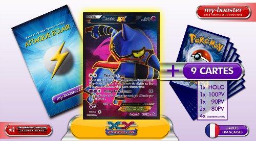 COATOX EX 102/106 170PV Full Art XY 2 Etincelles (Flashfire) - Booster optimisé ATTAQUE ECLAIR de 10 cartes pokemon Francaises