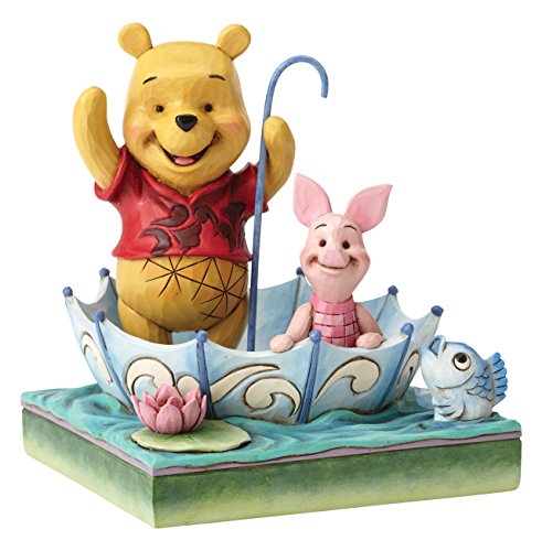 Enesco Disney Tradition By Jim Shore Winnie The Pooh 50 Anni Di Amicizia, Pvc, Multicolore, 12x13x15 cm