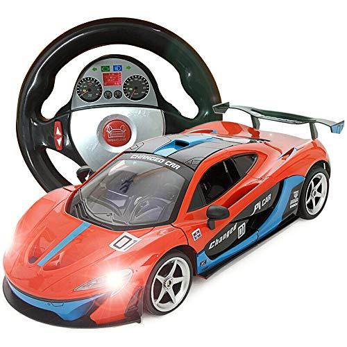 PETRLOY Geschenk Dekoration Fernbedienung Sport Rennwagen 1:18 Skala rc für Kinder elektrische bereit Auto schwerkraftsensor Supercar Radio Modell konzept fahrt auf Spielzeug orange