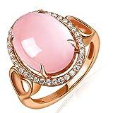 geshia Plata fina 925 plata de ley Pink cuarzo rosa