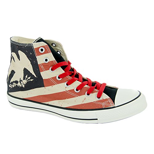 Converse CT Hi Fire Multi Womens Trainers - Black/Fire Brick/Natural