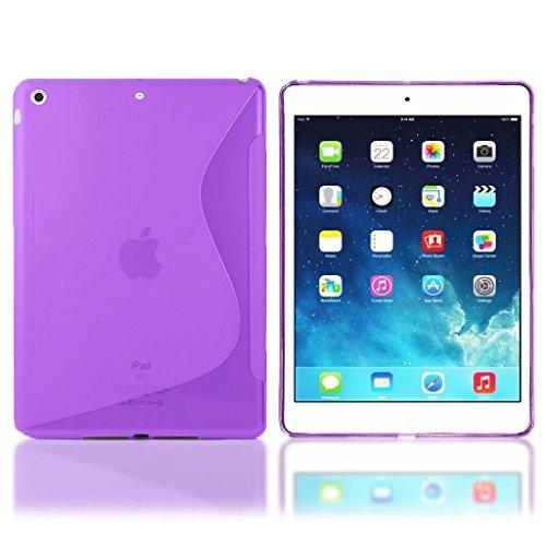 Preisvergleich Produktbild Premium Apple iPad mini 4lila Silikon Hülle Case Cover Gel S-Line Wave Design Schutzhülle für Apple iPad Mini 4
