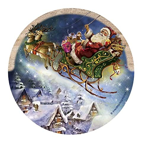 Thirstystone Drink Coaster Set, Santa's Sleigh by Thirstystone