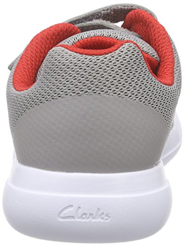 Clarks Kids Sprintfree Inf, Baskets Basses garçon Gris (Grey)