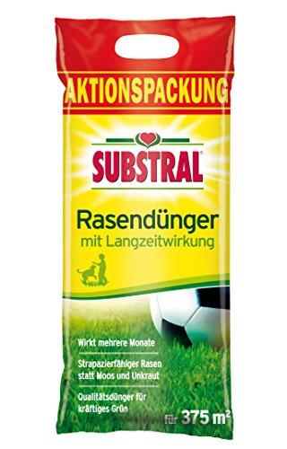 Substral Rasendünger, mit Langzeitwirkung, 100 Tage Langzeitdüngung, staubfreies Granulat mit umhüllten Langzeitstickstoff, 7,5 kg für 375 m²