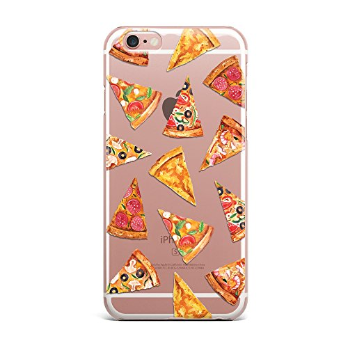 Blitz® PIZZA Schutz Hülle Transparent TPU Cartoon Comic iPhone  All Avocado M4 iPhone 6 6s knusprige Pizza M16