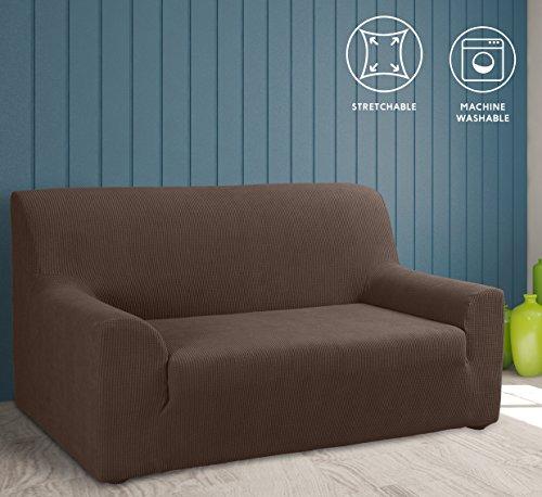 Tural – fodera per divano elasticizzato marrone 3 posti. copridivano elastico. disponibile in diversi colori e dimensioni