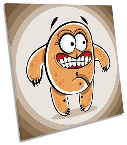 nster auf Leinwand, quadratisch Wand Kunstdruck Bild, 90cm wide x 90cm high (Cartoon Monster High Charaktere)