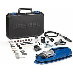 Dremel 4000-4/65 EZ - Pack con multiherramienta, eje flexible, cortadora y 65 accesorios, 5000 - 35000 rpm, 175 W, 230 V, color negro y azul