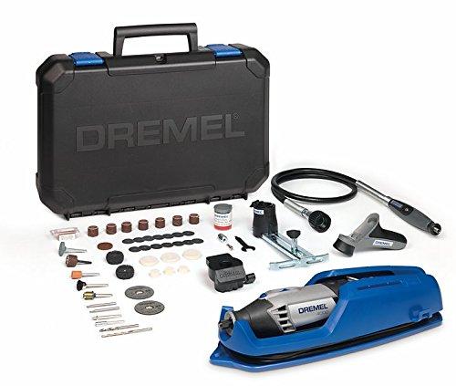 Dremel 4000-4/65 EZ - Pack con multiherramienta, eje flexible, cortadora y 65 accesorios (175 W, 4 complementos), color negro y azul