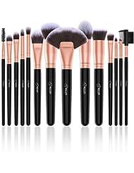 BESTOPE 14 Stück Make Up Pinsel Set Kosmetik Pinsel Premium Synthetische Kabuki Makeup Pinsel Schminkpinsel Set Foundation Concealer Lidschatten Kosmetikpinsel Beauty Tools (Rosa Gold)