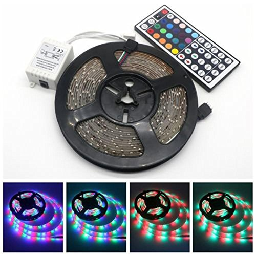 Womdee Led Strip Lights, 32.8ft 10m Waterproof RGB Light Strip Kits with Remote for Room, Bedroom, TV, Desk, Color Changing Led Strip SMD3528 with 3M Adhesive and Clips, 12V Power Supply -