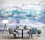 Fumo cinese dell'inchiostro della carta da parati del sofà della TV della parete del fumo astratto dell'inchiostro della cart carta da parati fotomurali murale Soggiorno camera da letto-250cm×170cm