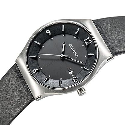 BERING Reloj Analógico para Hombre de Energía Solar con Correa en Cuero 14440-402