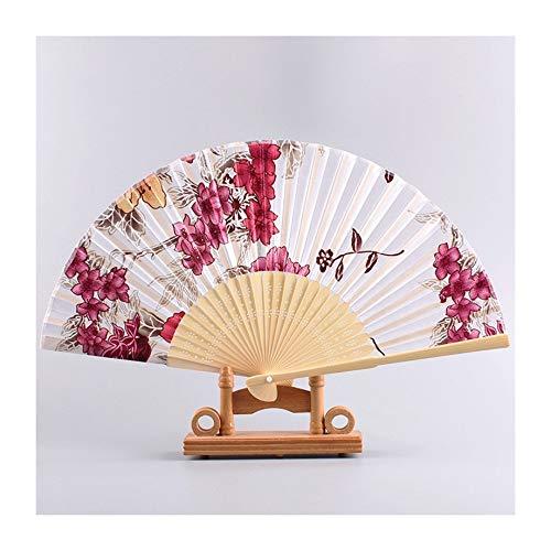 JUNHONGZHANG 2PCS Ho Feng-Art Japaner Chushan Art- Und Weisekühler Tanz Stützen Fan Hauptdekorationsverzierungen (21Cm), D (Japaner Kostüme)