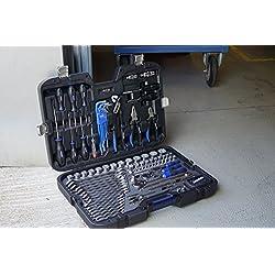 Projahn 39048201 Industrie-Werkzeugkoffer Universal metrisch 122-tlg. , Werkzeugkasten / Werkzeug Set - umfangreiches Sortiment , Übersichtliche Anordnung , Premium-Optik , ergonomisches Kofferdesign