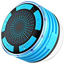 IPX7 Altavoz Bluetooth, SEGURO Ducha Impermeable IPX7 Portátil Inalámbrico Altavoces Bluetooth con Ventosa, Radio FM, Manos Libres y Micrófono, Batería Recargable Mini Radios de Ducha para los Móviles de Android y de iPhone, Tablets, y Otros Teléfonos Inteligentes