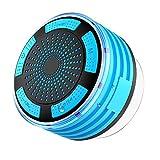IPX7impermeabile radio per doccia, doccia Seguro Bluetooth 4.1speaker con ventosa, altoparlante portatile wireless Bluetooth con LED modalità luce, radio FM e microfono integrato