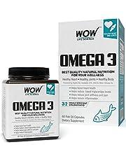 WOW Omega3 Fish Oil Triple Strength 1000mg 550mg EPA 350mg