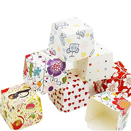 Ancdream 100 Stück Einweg-Rechteckform Muffin / Chiffon-Kuchen / Cupcake / Chocalate Liner - Hokkaido Muster / glatte Kante / fettdicht - keine Kuchen mehr