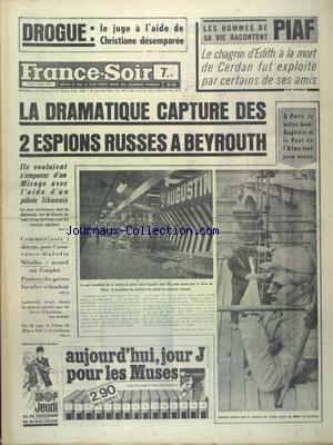 FRANCE SOIR du 02/10/1969 - DROGUE - LE ...
