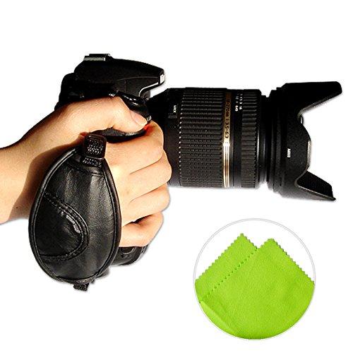 First2savvv OSH0201G11 neue Leder-Digitalkamera SLR Handschlaufe Grip für Nikon COOLPIX P610 Nikon COOLPIX P900 D810A D7200 FUJIFILM FinePix S9900W/S9800 Canon EOS 750D 760D 5DS R 5DS Rebel T6i Rebel T6S PENTAX K-S2 FUJIFILM FinePix HS20EXR X-S1 HS50 EXR SL1000 S3280 S3380 S4200 SL300 SL280 SL240 HS30 EXR HS25 EXR X-S1 X-PRO1 S4500 S4530 S4400 S4300 S2980 HS50 EXR S8200 S6800 S4800 S8400W Panasonic Lumix DMC-GH2 DMC-FZ48 DMC-FZ100 DMC-FZ150 DMC-G2 DMC-G5 DMC-LZ30 DMC-GH3 DMC-LZ20 DMC-FZ200 DMC-FZ62 DMC-FZ45 DMC-GH3 DMC-LZ30 DMC-GH2 DMC-G6 DMC-FZ72 mit Reinigungstuch