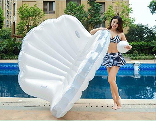 Riesige Aufblasbare Pool-Floss-Spielwaren Für Erwachsene Scherzt Swimmingpool Im Freien Oder Strand-Partei-Aufblasbarer Floss-Ruhesessel-Stuhl,Whitepearlshell