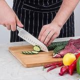 Mascot XM Santokumesser Küchenmesser Japanisches Kochmesser Sushi Messer 17CM Hohle Schneide Geschmiedetes Messer Deutscher HC Edelstahl mit Ergonomischem Griff für Haus und Restaurant - 7