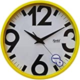 Ajanta Wall Clock For Home And Offices (31 Cm X 31 Cm , Silent Movement, Yellow)