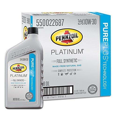 pennzoil-550022687-6pk-platinum-10w-30-full-synthetic-motor-oil-1-quart-pack-of-6-by-pennzoil