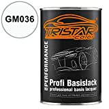 TRISTARcolor Autolack Dose spritzfertig Gen. Motors/Hummer / Oldsmobile/Pontiac / Saturn GM036 Olympic White Basislack 1,0 Liter 1000ml