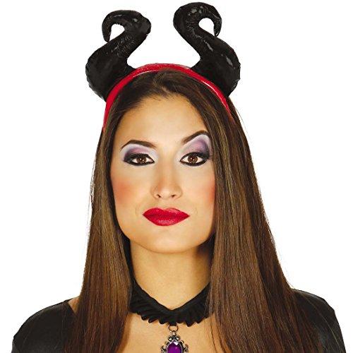 Teufelshörner Hörner Dämon Kopfschmuck Mephisto Haarschmuck Luzifer Teufelskostüm Zubehör Teufelin Halloween Kostüm Accessoire